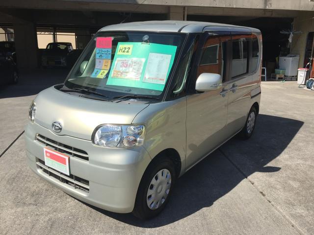 沖縄の中古車 ダイハツ タント 車両価格 35万円 リ済別 2010(平成22)年 8.4万km シャンパン