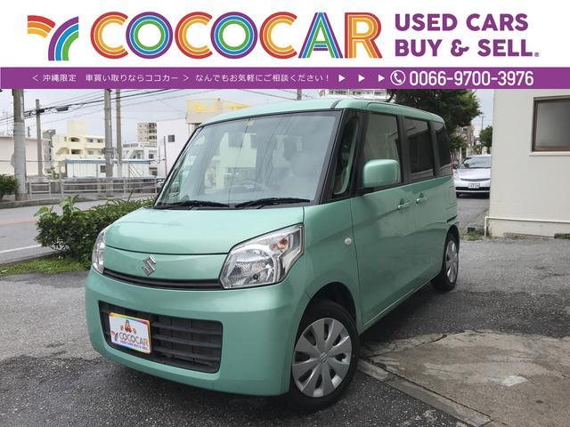沖縄県の中古車ならスペーシア X 左電動スライドドア 専用シートカバー USB スマートキ