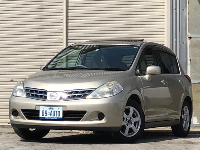沖縄の中古車 日産 ティーダ 車両価格 35万円 リ済別 2008(平成20)年 7.3万km ゴールド
