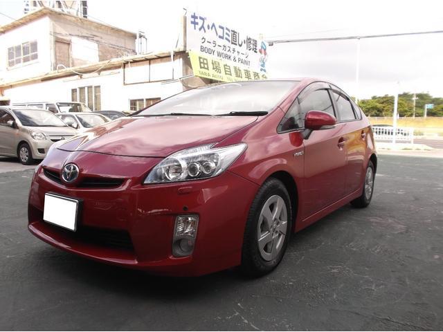 沖縄の中古車 トヨタ プリウス 車両価格 69万円 リ済込 2011(平成23)年 6.8万km レッド
