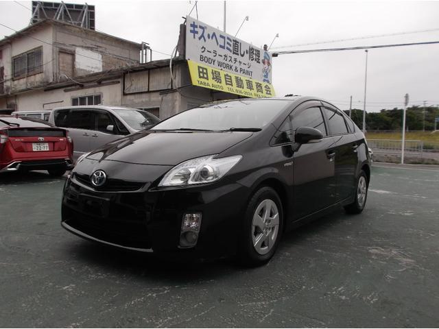 沖縄の中古車 トヨタ プリウス 車両価格 83万円 リ済込 2010(平成22)年 3.5万km ブラック