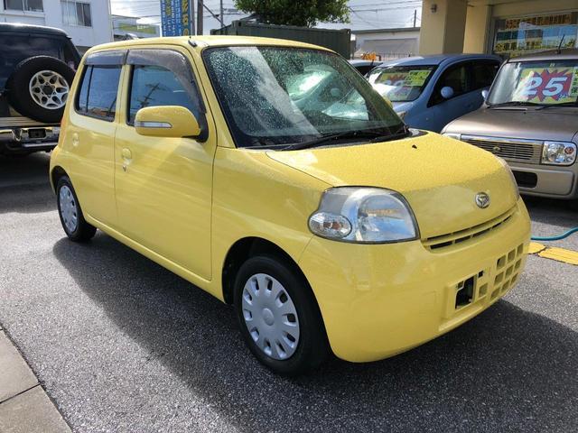 沖縄の中古車 ダイハツ エッセ 車両価格 29万円 リ済込 2006(平成18)年 9.4万km イエロー