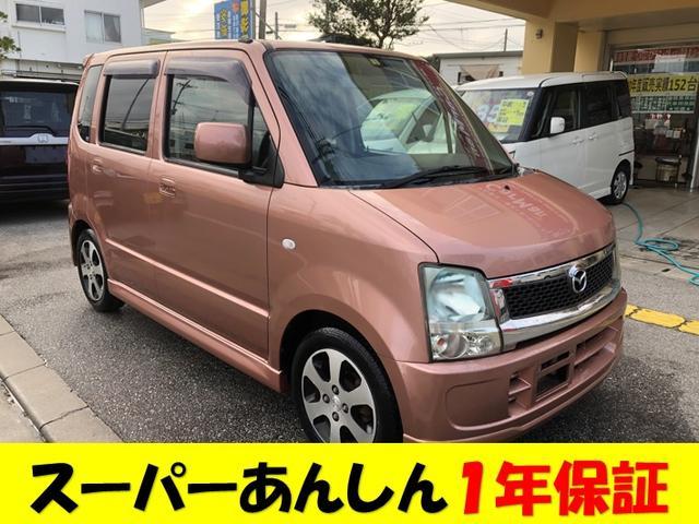 沖縄の中古車 マツダ AZワゴン 車両価格 30万円 リ済込 2008(平成20)年 13.2万km ピンクM