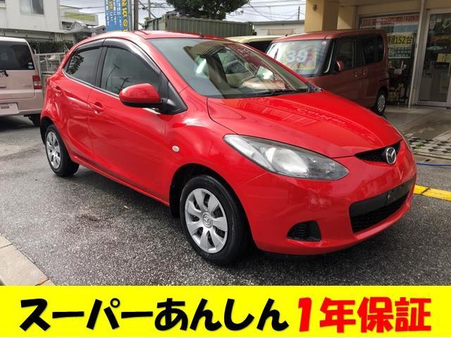 沖縄の中古車 マツダ デミオ 車両価格 39万円 リ済込 2009(平成21)年 7.5万km レッド