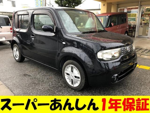 沖縄の中古車 日産 キューブ 車両価格 45万円 リ済込 2010(平成22)年 11.4万km DブラックM
