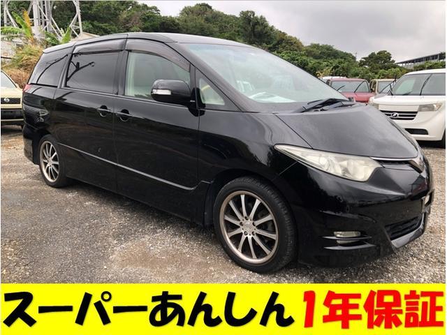 沖縄の中古車 トヨタ エスティマ 車両価格 60万円 リ済込 2008(平成20)年 12.6万km ブラックM