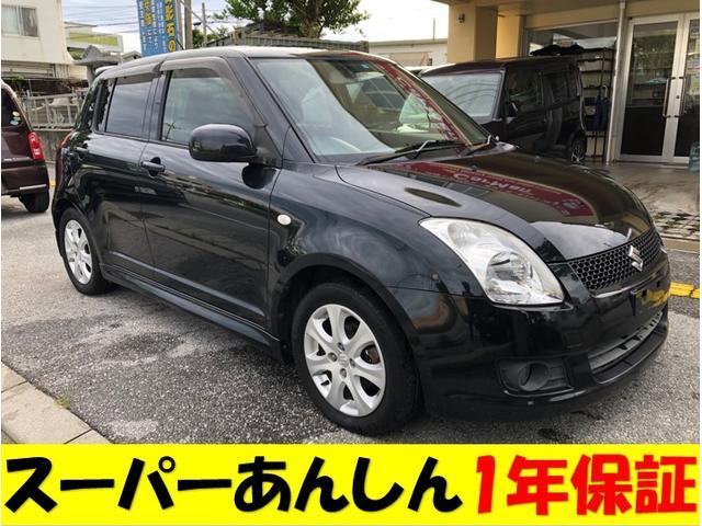 沖縄の中古車 スズキ スイフト 車両価格 55万円 リ済込 2010(平成22)年 13.5万km ブラックM