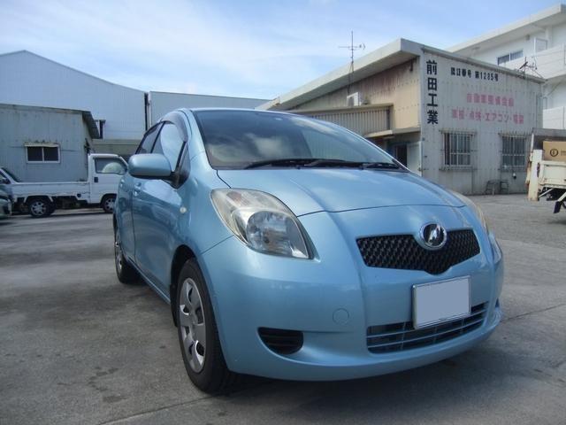 沖縄の中古車 トヨタ ヴィッツ 車両価格 25万円 リ済込 平成18年 5.6万km ライトブルー