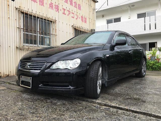 沖縄の中古車 トヨタ マークX 車両価格 45万円 リ済込 2005(平成17)年 15.9万km ブラックM