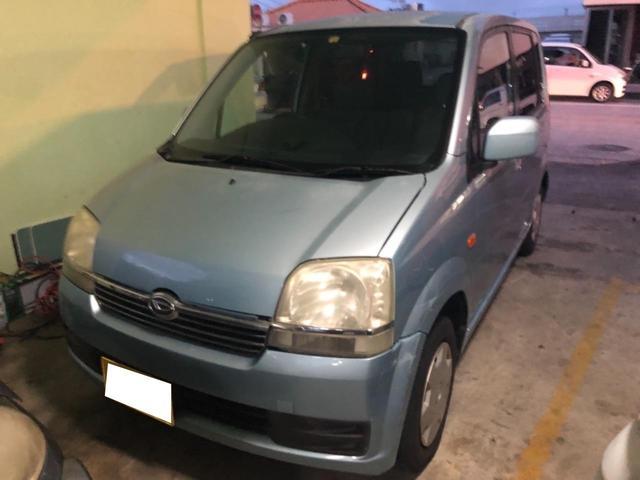 沖縄の中古車 ダイハツ ムーヴ 車両価格 8万円 リ済込 2003(平成15)年 14.2万km ブルー