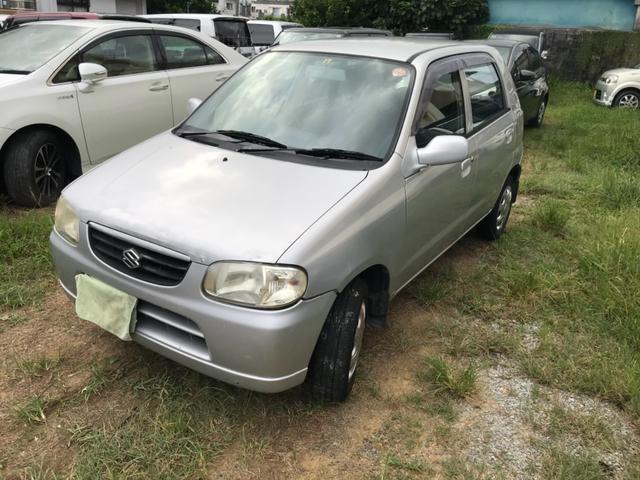 沖縄の中古車 スズキ アルト 車両価格 5万円 リ済込 2002(平成14)年 7.9万km シルバー