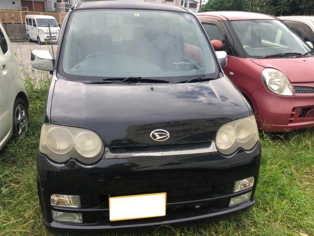 沖縄の中古車 ダイハツ ムーヴ 車両価格 6万円 リ済込 2006(平成18)年 16.5万km ブラック