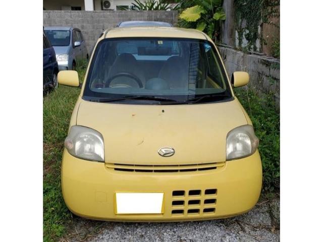 沖縄の中古車 ダイハツ エッセ 車両価格 5万円 リ済込 2006(平成18)年 15.3万km イエロー