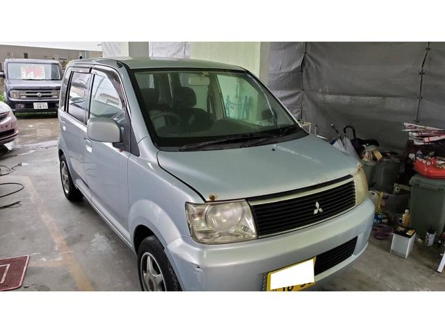 沖縄の中古車 三菱 eKワゴン 車両価格 6万円 リ済込 2003(平成15)年 15.7万km ライトシルバー