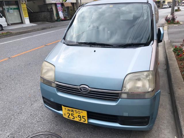沖縄の中古車 ダイハツ ムーヴ 車両価格 4.5万円 リ済込 2003(平成15)年 16.8万km ブルー