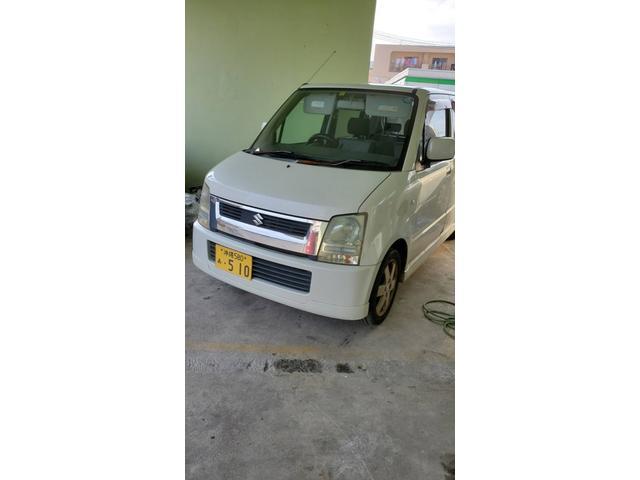 沖縄の中古車 スズキ ワゴンR 車両価格 9万円 リ済込 2005(平成17)年 18.2万km ホワイトM