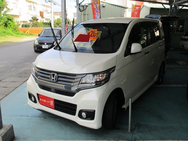 沖縄の中古車 ホンダ N-WGNカスタム 車両価格 83万円 リ済込 平成26年 4.3万km パールホワイト