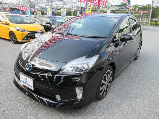 沖縄の中古車 トヨタ プリウス 車両価格 106万円 リ済込 2012(平成24)後 9.5万km ブラック