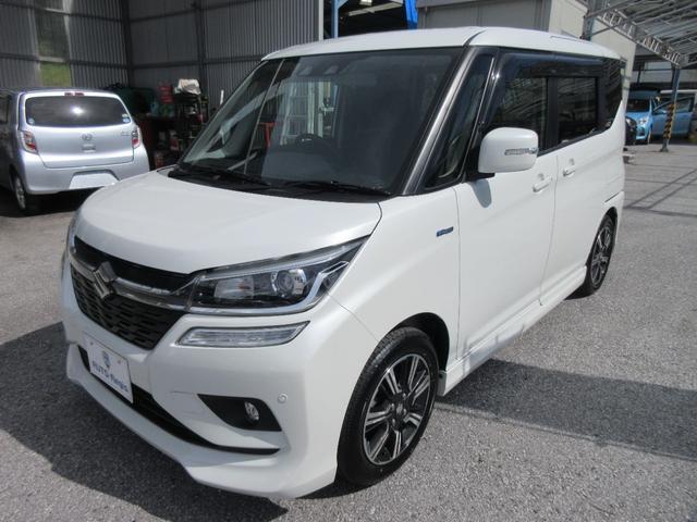 沖縄の中古車 スズキ ソリオバンディット 車両価格 136万円 リ済込 2020(令和2)年 4.9万km ピュアホワイトパール