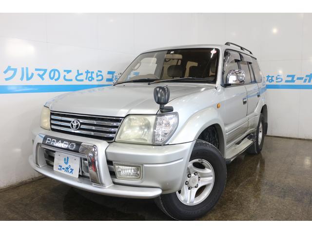 沖縄県の中古車ならランドクルーザープラド TXリミテッド 8人乗り 純正16インチアルミホイール ルーフレール