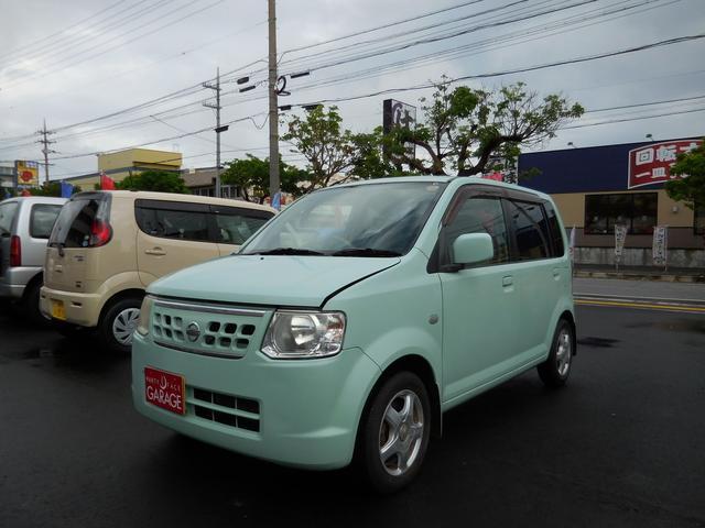 沖縄の中古車 日産 オッティ 車両価格 18万円 リ済込 平成21年 9.7万km Lグリーン