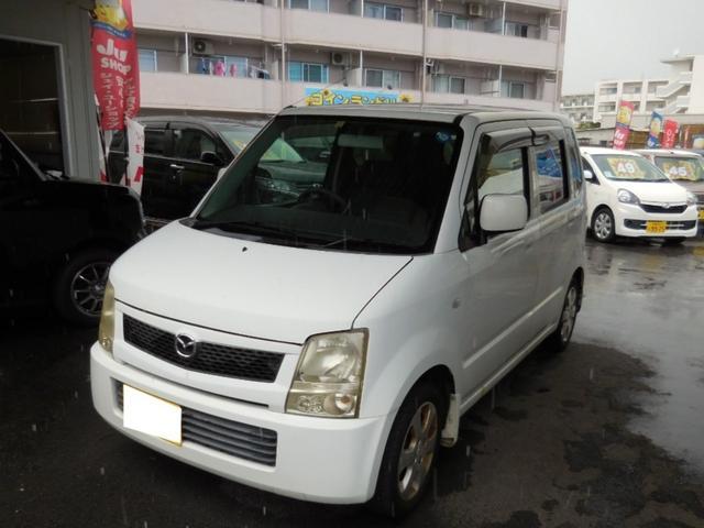 沖縄の中古車 マツダ AZワゴン 車両価格 4万円 リ済別 2003(平成15)年 14.9万km ホワイト