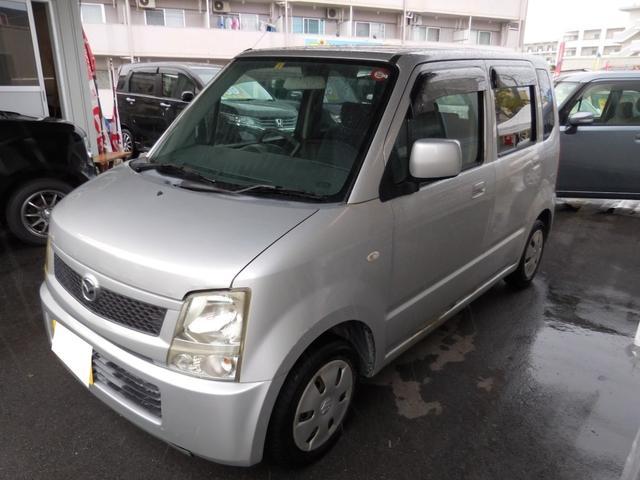 沖縄の中古車 マツダ AZワゴン 車両価格 4万円 リ済別 2006(平成18)年 15.4万km シルバー