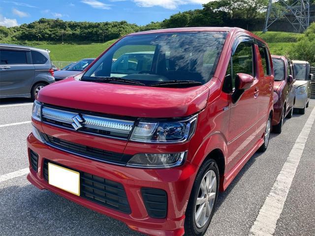 沖縄県の中古車ならワゴンR ハイブリッドFZ ハイブリッド キーレス ナビ ETC LEDヘッドライト フォグランプ