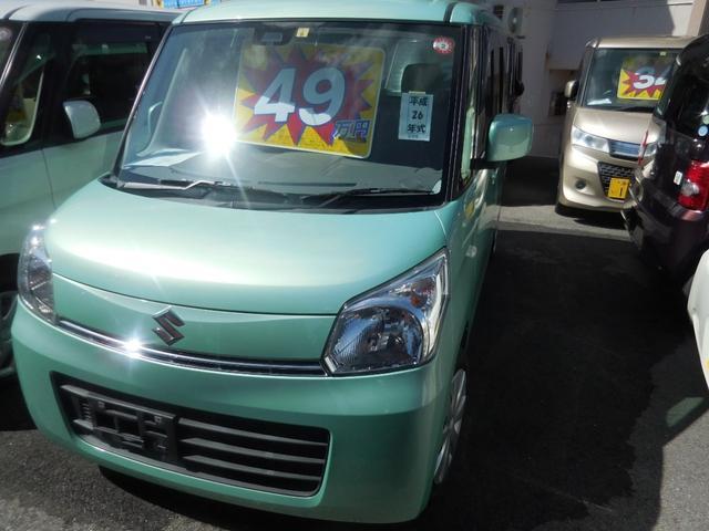 沖縄県の中古車ならスペーシア X フルセグナビ TV パワースライドドア キーレス プッシュスタート