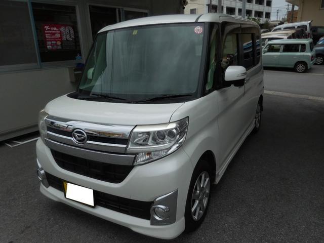 沖縄県の中古車ならタント カスタムX ユーザー買取車 Bluetooth機能対応ナビ TV バックカメラ 片側パワースライドドア