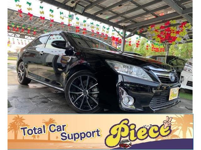 沖縄県うるま市の中古車ならカムリ ハイブリッド Gパッケージ 社外新品18インチアルミ