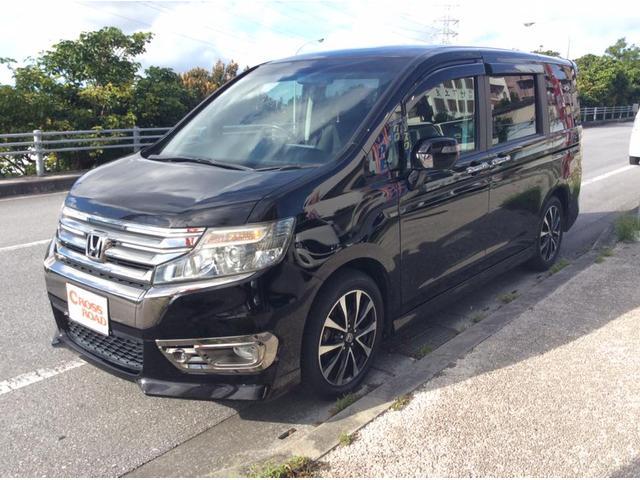 沖縄の中古車 ホンダ ステップワゴンスパーダ 車両価格 139万円 リ済込 2013(平成25)後 8.4万km ブラック