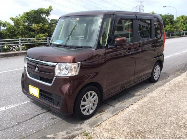 沖縄の中古車 ホンダ N-BOX 車両価格 119万円 リ済込 2017(平成29)年 1.2万km ブラウンM