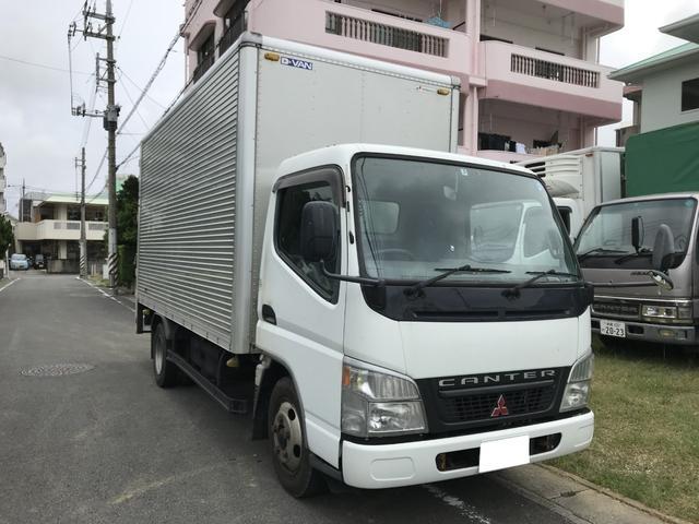 沖縄県宜野湾市の中古車ならキャンター 2tアルミバン パワーゲート MT