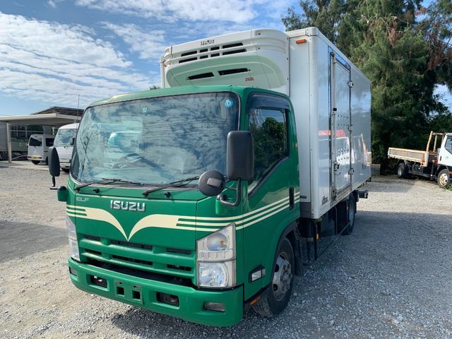 沖縄県の中古車ならエルフトラック 3トン冷凍車 パワーゲート格納式 バックモニター MT 軽油
