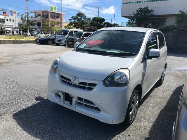 沖縄の中古車 ダイハツ ミライース 車両価格 39万円 リ済別 平成23年 5.5万km パールホワイト