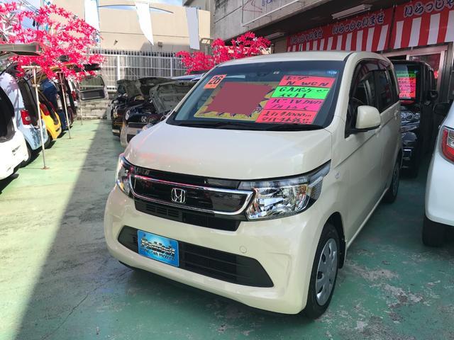 沖縄の中古車 ホンダ N-WGN 車両価格 72万円 リ済込 2014(平成26)年 4.2万km ライトイエロー