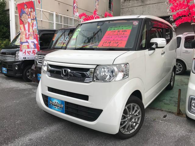 沖縄の中古車 ホンダ N-BOXスラッシュ 車両価格 99万円 リ済込 2015(平成27)年 5.8万km パール