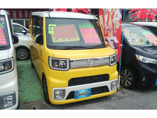 沖縄の中古車 ダイハツ ウェイク 車両価格 98万円 リ済込 2015(平成27)年 7.0万km イエローII