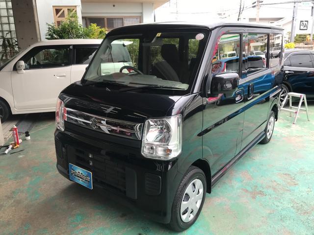 沖縄の中古車 スズキ エブリイワゴン 車両価格 125万円 リ済込 2019(平成31)年 0.8万km ブルーイッシュブラックパール3