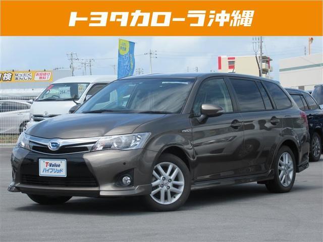 沖縄の中古車 トヨタ カローラフィールダー 車両価格 140万円 リ済別 平成25年 4.8万km ブラウン