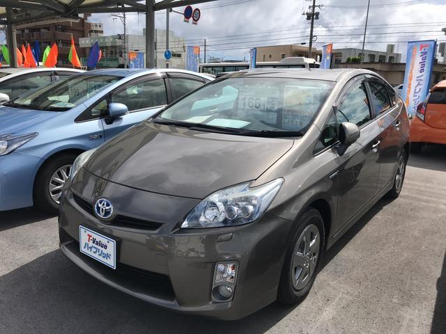 沖縄の中古車 トヨタ プリウス 車両価格 129万円 リ済別 2011(平成23)年 5.4万km ライトブラウン