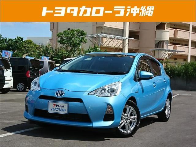 沖縄の中古車 トヨタ アクア 車両価格 98万円 リ済別 2013(平成25)年 4.9万km ブルー
