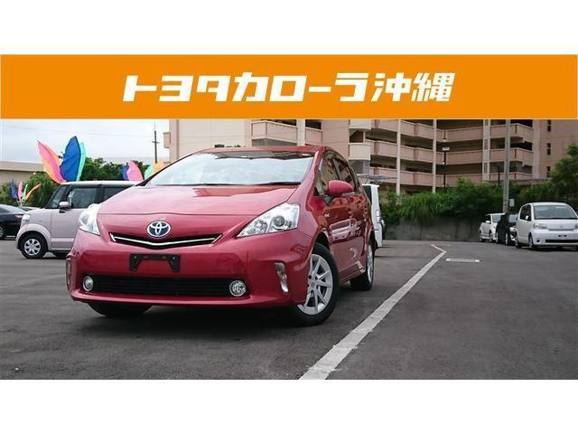 沖縄の中古車 トヨタ プリウスアルファ 車両価格 112万円 リ済別 2012(平成24)年 6.2万km レッド