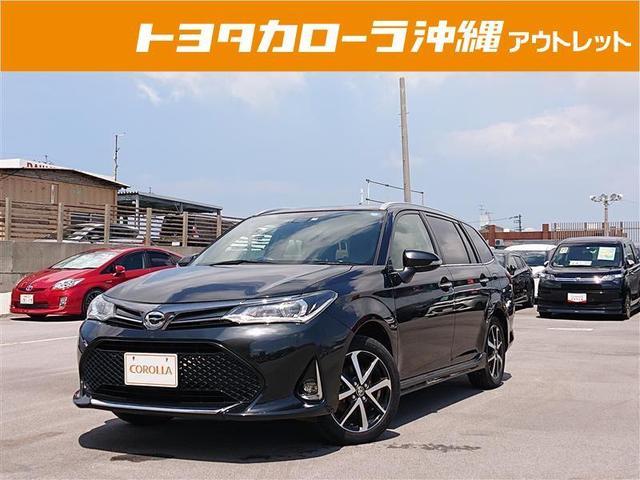沖縄の中古車 トヨタ カローラフィールダー 車両価格 145万円 リ済別 2018(平成30)年 3.2万km クロ