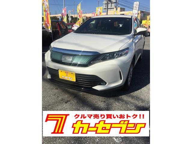沖縄の中古車 トヨタ ハリアー 車両価格 245万円 リ済込 2017(平成29)年 2.1万km ホワイトM