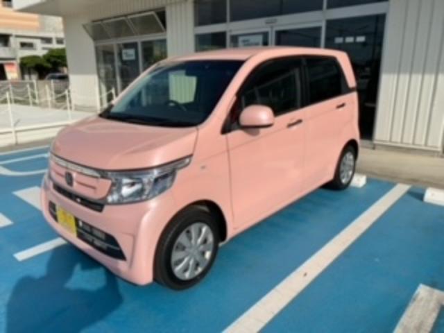 沖縄の中古車 ホンダ N-WGN 車両価格 90万円 リ済込 2017(平成29)年 3.1万km ピンクM