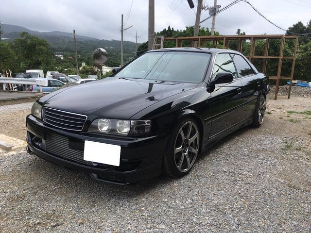 沖縄の中古車 トヨタ チェイサー 車両価格 82万円 リ済込 1997(平成9)年 走不明 ブラック