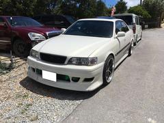 沖縄の中古車 トヨタ チェイサー 車両価格 99万円 リ済込 平成9年 18.4万K パールホワイト