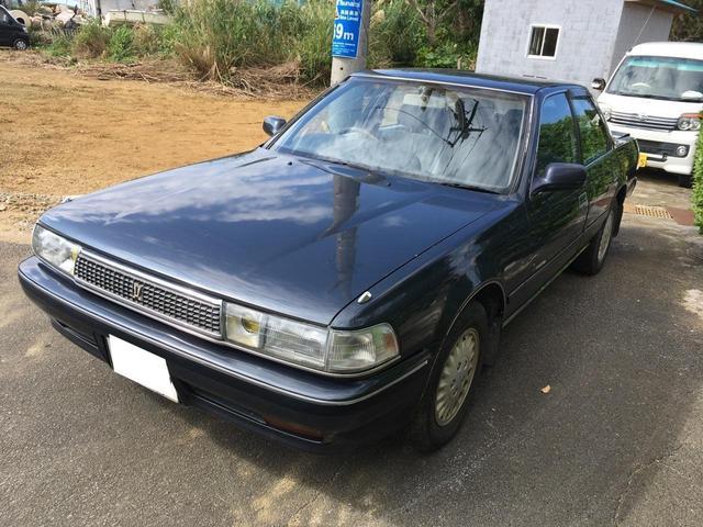 沖縄の中古車 トヨタ クレスタ 車両価格 15万円 リ済込 1991(平成3)年 走不明 紺II